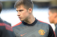 Paddy McNair of Manchester United looking on during pre-match warm up.  Barclays Premier league match, Chelsea v Manchester Utd at Stamford Bridge Stadium in London on Saturday 18th April 2015.<br /> pic by John Patrick Fletcher, Andrew Orchard sports photography.