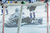 KELOWNA, CANADA - DECEMBER 2: Wyatt Hoflin #30 of Kootenay Ice allows a goal against the Kelowna Rockets on December 2, 2015 at Prospera Place in Kelowna, British Columbia, Canada.  (Photo by Marissa Baecker/Shoot the Breeze)  *** Local Caption *** Wyatt Hoflin;