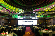 Set-up before the Automobile Magazine Car of the Year Awards and Gala dinner at the Intercontinental Hotel, Hong Kong, China, on 4 December 2017. Photo by Lucas Schifres