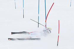 21.12.2010, Stade Emile Allais, Courchevel, FRA, FIS World Cup Ski Alpin, Ladies, Slalom, im Bild Tessa Worley (FRA) crashes out competing in the FIS Alpine skiing World Cup ladies slalom race in Courchevel 1850, France. EXPA Pictures © 2010, PhotoCredit: EXPA/ M. Gunn