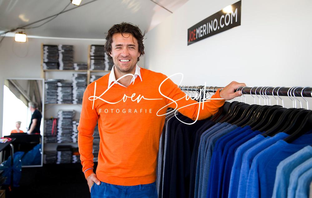 DEN HAAG - John van Lottum bij kledingmerk Joemerino . Rabobank World Cup Hockey 2014 . COPYRIGHT KOEN SUYK