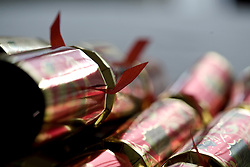 Close up of Christmas crackers