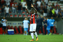 August 22, 2017 - Nice, France - Jean Michael Seri of Nice greeting the supporters after the UEFA Champions League play-off football match between Nice and Napoli at the Allianz Riviera stadium in Nice, southeastern France, on August 22, 2017. (Credit Image: © Matteo Ciambelli/NurPhoto via ZUMA Press)