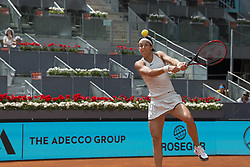 May 11, 2018 - Madrid, Madrid, Spain - CAROLINE GARCIA in a match against KIKI BERTENS during the semi finals of Mutua Madrid Open 2018 - WTA in Madrid. KIKI BERTENS won the match 6-2 6-2. (Credit Image: © Patricia Rodrigues via ZUMA Wire)
