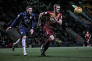James Hanson (Bradford City) runs to collect the ball and set up the next attack during the Sky Bet League 1 match between Bradford City and Southend United at the Coral Windows Stadium, Bradford, England on 16 February 2016. Photo by Mark P Doherty.