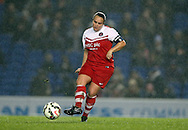 Charlton Athletic Ladies player Kim Dixson during the FA Women's Premier League match between Brighton Ladies and Charlton Athletic WFC at the American Express Community Stadium, Brighton and Hove, England on 6 December 2015.