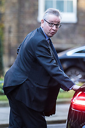 © Licensed to London News Pictures. 28/11/2017. London, UK. Secretary of State for Environment, Food and Rural Affairs Michael Gove leaves 10 Downing Street after the weekly Cabinet meeting. Photo credit: Rob Pinney/LNP