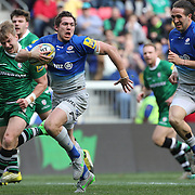 Saracens full back Alex Goode races clear to score Saracens first try during the London Irish Vs Saracens Aviva Premiership Rugby match, the first Premiership game to be played on American soil at Red Bull Arena, Harrison, New Jersey. USA. 12th March 2016. Photo Tim Clayton