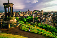 Looking from Calton Hill over the city of Edinburgh, Scotland