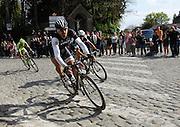 France April 13th 2014: Fabian Cancellara, Trek, Zdenek Stybar, Omega Pharma Quickstep, and Peter Sagan pass through Gruson on the way to the finish in Roubaix Velodrome. Copyright 2014 Peter Horrell