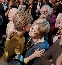 SNP Spring Conference, Sunday 28th April 2019<br /> <br /> Pictured: First Minister Nicola Sturgeon with her mum Joan<br /> <br /> Alex Todd | Edinburgh Elite media