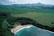 Aerial View of Beach,  Kauai, Hawaii