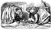 The Town Mouse and the City Mouse from  AEsop's fables Illustrated by Joseph Benjamin Rundell, and published in London and New York by Cassell Petter and Galpin in 1869