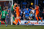 Goal 1-0 Luton Town defender Matthew Person scores the first goal during the EFL Sky Bet League 1 match between Luton Town and Coventry City at Kenilworth Road, Luton, England on 24 February 2019.