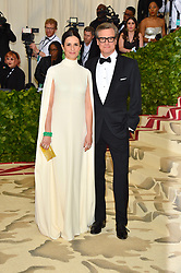Colin Firth and Livia Giuggioli attending the Costume Institute Benefit at The Metropolitan Museum of Art celebrating the opening of Heavenly Bodies: Fashion and the Catholic Imagination. The Metropolitan Museum of Art, New York City, New York, May 7, 2018. Photo by Lionel Hahn/ABACAPRESS.COM