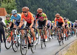 12.07.2019, Kitzbühel, AUT, Ö-Tour, Österreich Radrundfahrt, 6. Etappe, von Kitzbühel nach Kitzbüheler Horn (116,7 km), im Bild Riccardo Zoidl (AUT, CCC Team) im Gebrüder Weiss Trikot des besten Österreichers // Riccardo Zoidl of Austria (CCC Team) wearing the Gebrüder Weiss jersey of the best Austrian rider during 6th stage from Kitzbühel to Kitzbüheler Horn (116,7 km) of the 2019 Tour of Austria. Kitzbühel, Austria on 2019/07/12. EXPA Pictures © 2019, PhotoCredit: EXPA/ Reinhard Eisenbauer