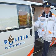 Ab de Heij, hoofd verkeer politie Gooi & Vechtstreek Huizen, neemt afscheid