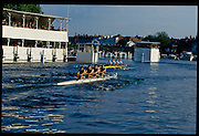 Henley, GREAT BRITAIN,  GV, General View looking across at the floating Grandstand, as competing crews pass, Henley Royal Regatta, Henley Reach, 2-6 July 1997, Henley, ENGLAND [Mandatory Credit, Peter Spurrier/Intersport-images] 1997 Henley Royal Regatta, Henley, Great Britain