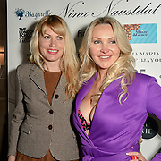 Meredith Ostrom, Heather Bird tchenguiz Arrivers at Nina Naustdal catwalk show SS19/20 collection by The London School of Beauty & Make-up at Bagatelle on 26 Feb 2019, London, UK.