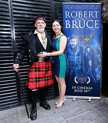 Edinburgh International Film Festival 2019<br /> <br /> Robert The Bruce (World Premiere) afterparty<br /> <br /> Pictured: Seoras Wallace and his wife Lieili.<br /> <br /> Alex Todd | Edinburgh Elite media