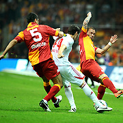 Galatasaray's Wesley Sneijder (R) during their Turkish Super League soccer match Galatasaray between Sivasspor at the AliSamiYen Spor Kompleksi TT Arena at Seyrantepe in Istanbul Turkey on Sunday 05 May 2013. Photo by TURKPIX