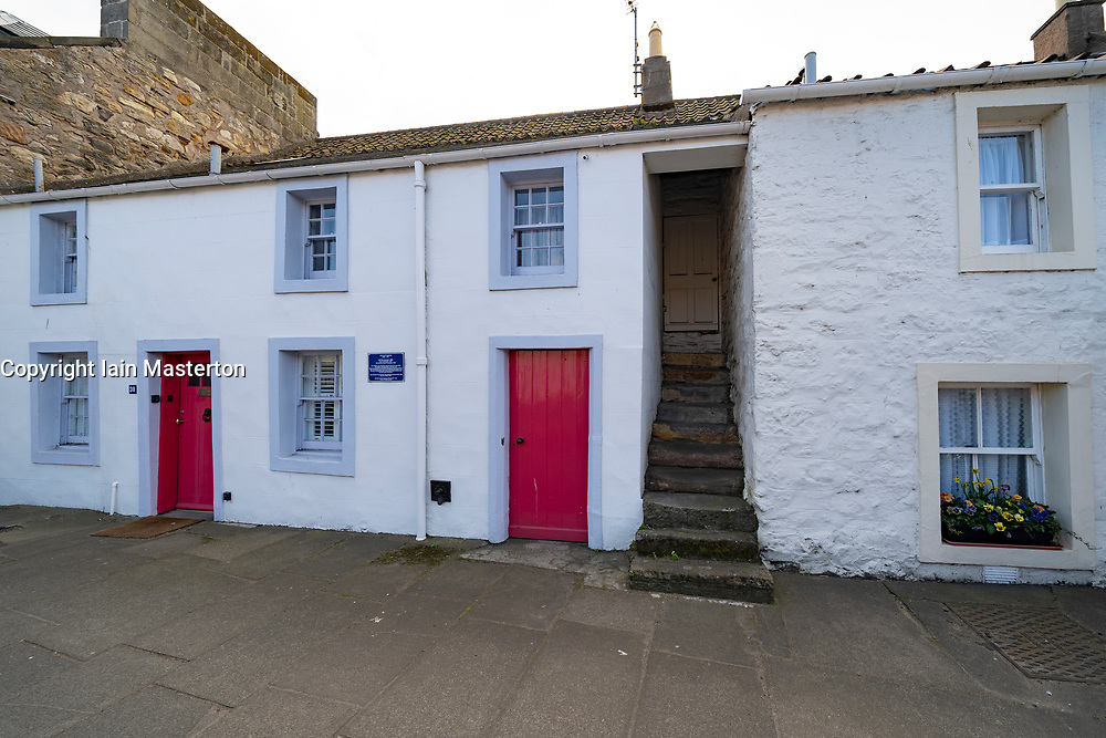 Exterior of old house in St Andrews, Fife, Scotland, UK