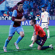 Trabzonspor's Oscar Cardozo (L) during their Turkish Super League match Trabzonspor between Gaziantepspor at the Avni Aker Stadium at Trabzon Turkey on Wednesday, 28 October 2015. Photo by Aykut AKICI/TURKPIX