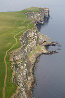 Grimsey - northernmost point of Iceland (split in two by Arctic Circle) - aerial