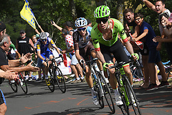 July 16, 2017 - Puy En Velay, France - LE PUY-EN-VELAY, FRANCE - JULY 16 : Attack of of URAN URAN Rigoberto (COL) Rider of Cannondale - Drapac team and BARDET Romain (FRA) Rider of Team AG2R La Mondiale during stage 15 of the 104th edition of the 2017 Tour de France cycling race, a stage of 189.5 kms between Laissac-Severac l'Eglise and Le Puy-En-Velay on July 16, 2017 in Le Puy-En-Velay, France, 16/07/2017 (Credit Image: © Panoramic via ZUMA Press)