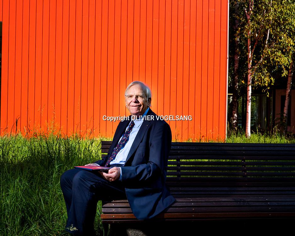 Ecublens,, 13 septembre 2019. Jean-Claude Badoux, ancien président de l'école, qui évoque les 50 ans de l'EPFL. © Olivier Vogelsang