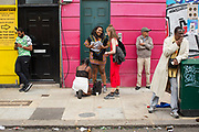 The Notting Hill Carnival on the 27th August 2018 in London in the United Kingdom. The Notting Hill Carnival is an annual event held over two days of the August Bank Holiday weekend. It has taken place in London since 1966 on the streets of Notting Hill, in the Royal Borough of Kensington and Chelsea and the City of Westminster.