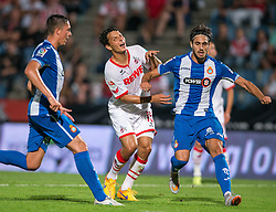 22.07.2015, Grenzland Stadion, Kufstein, AUT, Testspiel, 1. FC Köln vs RCD Espanyol Barcelona, im Bild v.l. Philipp Hosiner (1. FC Koeln), Roberto Correa (Espanyol Barcelona) // during the International Friendly Football Match between 1. FC Cologne and RCD Espanyol Barcelona at the Grenzland Stadion in Kufstein, Austria on 2015/07/22. EXPA Pictures © 2015, PhotoCredit: EXPA/ Johann Groder