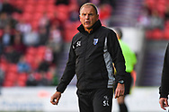 Steve Lovell of Gillingham (Manager) during the EFL Sky Bet League 1 match between Doncaster Rovers and Gillingham at the Keepmoat Stadium, Doncaster, England on 20 October 2018.