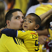 Colombia fans during the Columbia Vs Canada friendly international football match at Red Bull Arena, Harrison, New Jersey. USA. 14th October 2014. Photo Tim Clayton