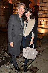RONNI ANCONA and GERARD HILL at Skate at Somerset House in association with Fortnum & Mason held on 10th November 2014.