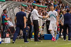 Srecko Katanec head coach of team Slovenia and Jasmin Kurtic of Slovenia during the EURO 2016 Qualifier Group E match between Slovenia and England at SRC Stozice on June 14, 2015 in Ljubljana, Slovenia. Photo by Grega Valancic