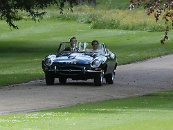 Pippa Middleton and James Matthews seen leaving their wedding in a vintage car. 20 May 2017 Pictured: Pippa Middleton and James Matthews. Photo credit: abc / MEGA TheMegaAgency.com +1 888 505 6342