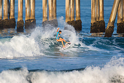 Ainara Aymat (EUK) placed fourth in the 2018 Women's VANS US Open of Surfing trials at Huntington Beach, California, USA.