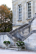 Monumental stairs. Chateau La Louviere, Pessac Leognan, Graves, Bordeaux, France