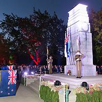 Anzac Day, dawn service, Cenotaph, Memorial Park, Hamilton, Saturday 25 April 2015. Photo: Stephen Barker/Barker Photography. ©Hamilton City Council