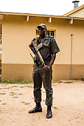 Portrait of a security man at Kruger Park, South Africa