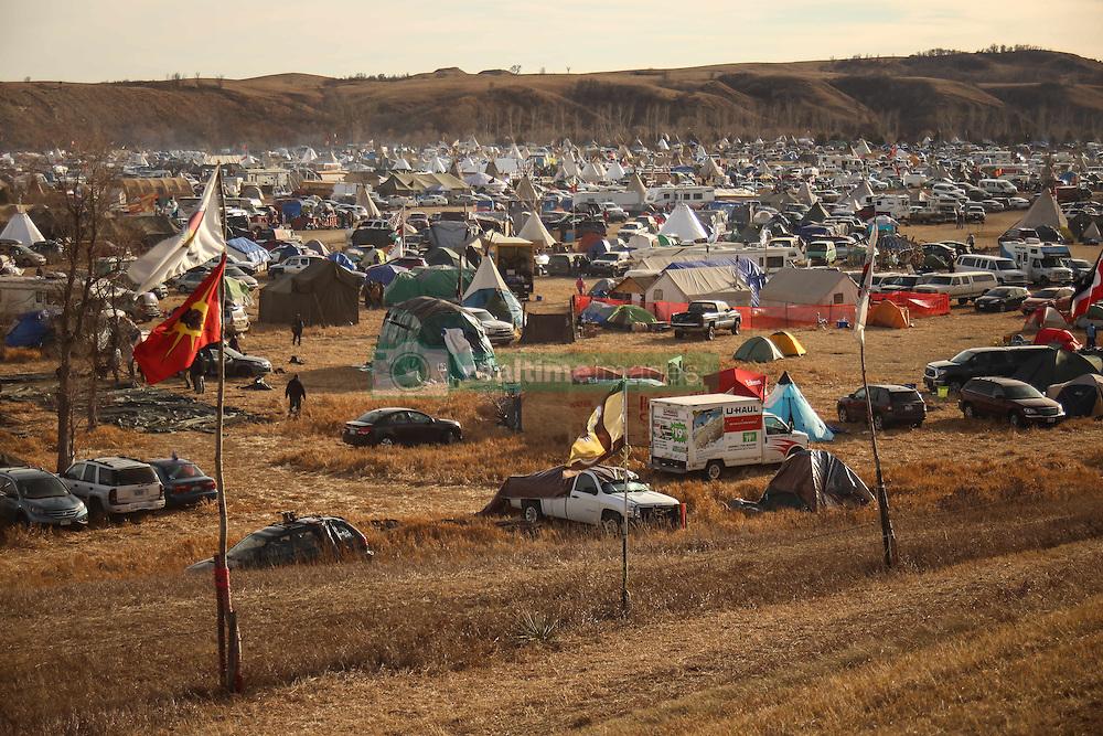 November 25, 2016 - Cannon Ball, North Dakota, U.S - A view of the Oceti Sakowin Camp at the Standing Rock Indian Reservation in Cannon Ball, North Dakota. (Credit Image: © Joel Angel Juarez via ZUMA Wire)