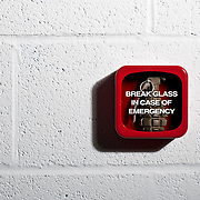 Break glass in case of emergency to make use of the hand grenade.