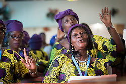 31 October 2019, Monrovia, Liberia: Members of the Ecumenical Women Organisation of Liberia sing as the Lutheran World Federation launches an SDG mapping for Liberia in Saint Peter Lutheran Church. The event takes place during the annual global meeting of the Waking the Giant initiative of the Lutheran World Federation.