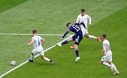 Scotland's Kevin Nisbet shoots during the UEFA Euro 2020 Group D match at Hampden Park, Glasgow. Picture date: Monday June 14, 2021.