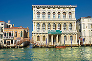 Palazzo Ca'Rezzonico built in 1649 by Baldassarre Longhena in a Baroque style on the Grand Canal Venice .<br /> <br /> Visit our ITALY HISTORIC PLACES PHOTO COLLECTION for more   photos of Italy to download or buy as prints https://funkystock.photoshelter.com/gallery-collection/2b-Pictures-Images-of-Italy-Photos-of-Italian-Historic-Landmark-Sites/C0000qxA2zGFjd_k