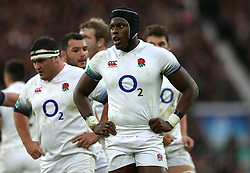 England's maro Itoje during the Autumn International at Twickenham Stadium, London. PRESS ASSOCIATION Photo. Picture date: Saturday November 25, 2017. See PA story RUGBYU England. Photo credit should read: Paul Harding/PA Wire. RESTRICTIONS: Editorial use only, No commercial use without prior permission