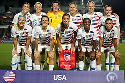 October 11, 2018 - Cary, North Carolina, United States - CARY, NC - OCTOBER 10: .USA Team.During CONCACAF Women's Championship Group A match between Trinidad and Tobago against USA at Sahlen's Stadium, Cary, North Carolina. on October 10, 2018  (Credit Image: © Action Foto Sport/NurPhoto via ZUMA Press)