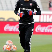 Besiktas's goalkeeper Tolga Zengin during their Turkish Super League soccer derby match Besiktas between Fenerbahce at the Ataturk Olimpiyat stadium in Istanbul Turkey on Sunday, 27 September 2015. Photo by Kurtulus YILMAZ/TURKPIX