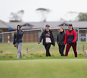 4th October 2017, The Old Course, St Andrews, Scotland; Alfred Dunhill Links Championship, practice round; Fans follow Actor Jamie Dornan during a practice round before the Alfred Dunhill Links Championship on the Old Course, St Andrews